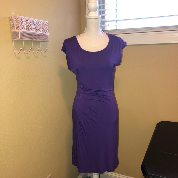 Boston Proper Dresses & Skirts - Boston Proper Short Sleeve Dress Purple XS NWOT